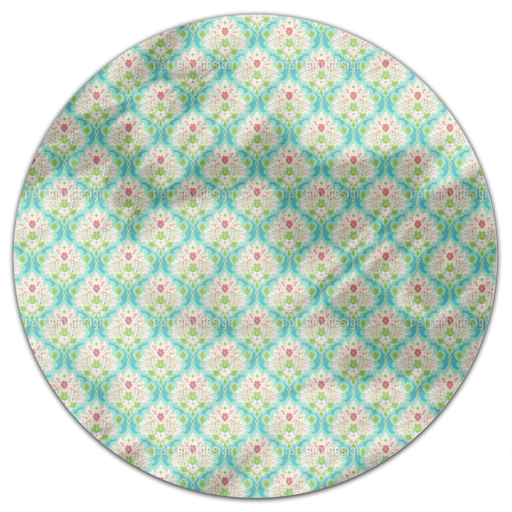 Uneekee Damask Of Summer Round Tablecloth (Large), Multi ...