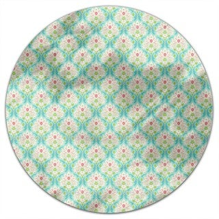 Damask Of Summer Round Tablecloth