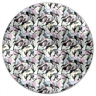 The Bird Bath Round Tablecloth