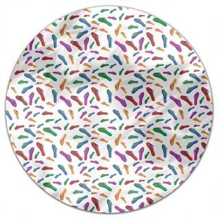 Summer Flip Flops Round Tablecloth