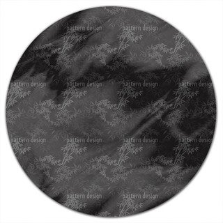 Night In The Bamboo Forest Round Tablecloth