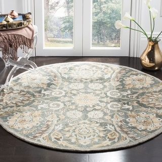 Safavieh Handmade Bella Grey/ Multi Wool Rug (5' Round)