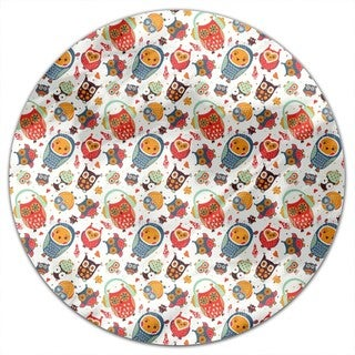 The Sweetest Owls Round Tablecloth