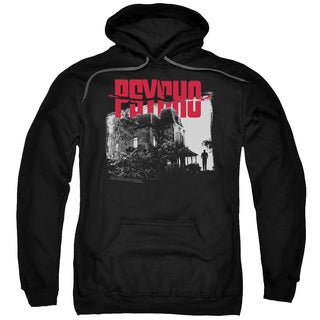 Psycho/Bates House Adult Pull-Over Hoodie in Black