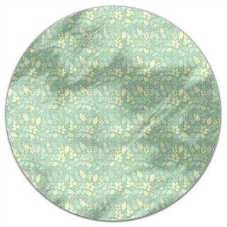 Variety Of Leaves Round Tablecloth