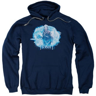 Hobbit/Tangled Web Adult Pull-Over Hoodie in Navy