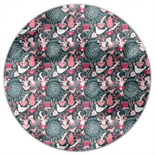 Russian Tea Party At Night Round Tablecloth
