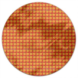 Kawaii Pumpkin Round Tablecloth