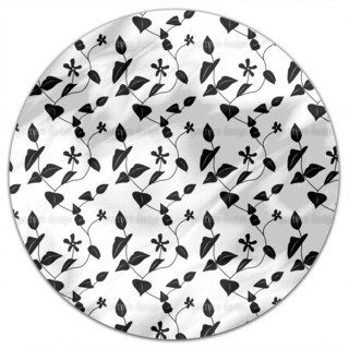 Flowers On The Hill Round Tablecloth