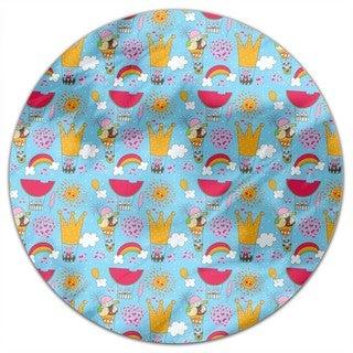 A Merry Balloon Ride Round Tablecloth