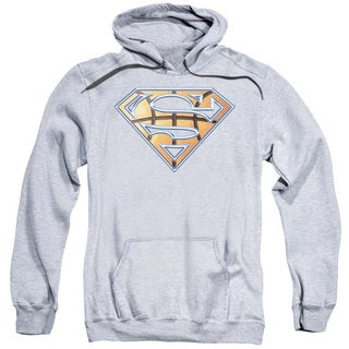 Superman/Basketball Shield Adult Pull-Over Hoodie in Athletic Heather