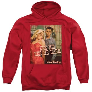 Cry Baby/Kiss Me Adult Pull-Over Hoodie in Red