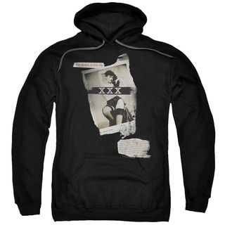 Bettie Page/Newspaper Lace Adult Pull-Over Hoodie in Black