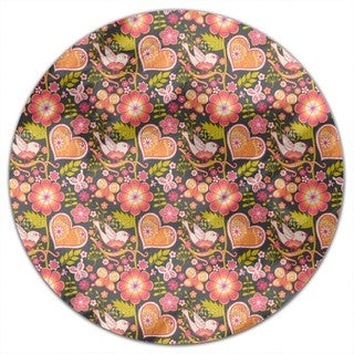 Bohemian Garden Round Tablecloth