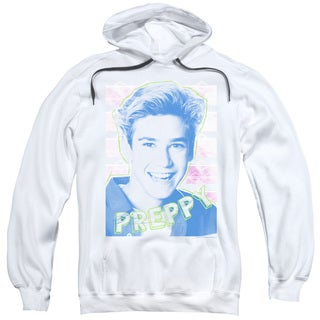 Saved By The Bell/Preppy Adult Pull-Over Hoodie in White