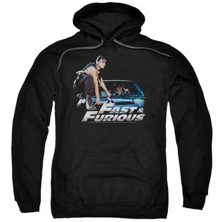 Fast Furious/Car Ride Adult Pull-Over Hoodie in Black