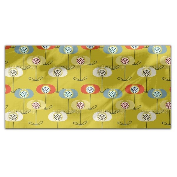 Retro Poppy Rectangle Tablecloth