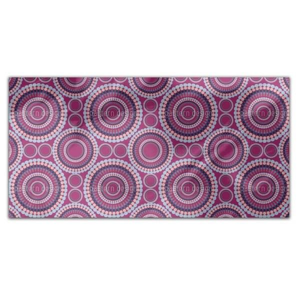 Retro Circle Rectangle Tablecloth