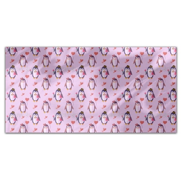 Penguins in Love Rectangle Tablecloth