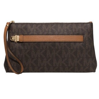 Michael Kors Charlton Medium Brown Signature Wristlet