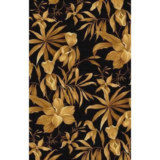 Sparta TA81 Black Floral Elegance Rug (7'9 x 9'6)