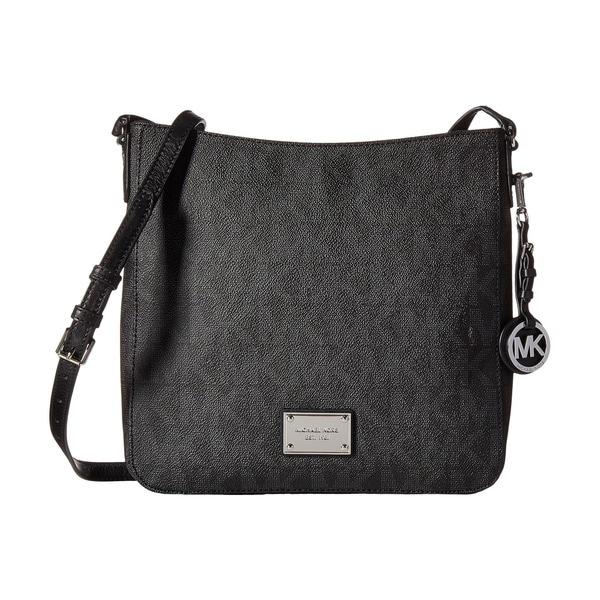 5b6a26d65fb7 Shop Michael Kors Jet Set Travel Black Crossbody Handbag - Free ...
