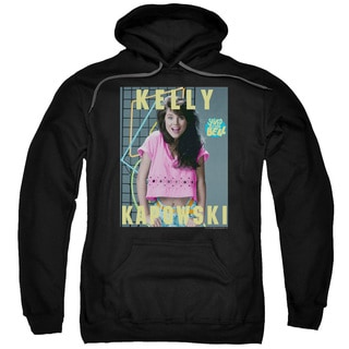 Saved By The Bell/Kelly Kapowski Adult Pull-Over Hoodie in Black