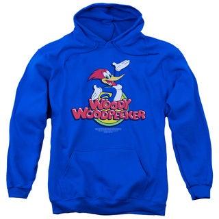 Woody Woodpecker/Woody Adult Pull-Over Hoodie in Royal Blue