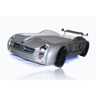 Roadstar Racing Car Bed Grey Color with Poly-foam Mattress