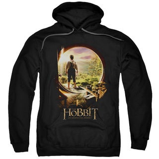 The Hobbit/Hobbit in Door Adult Pull-Over Hoodie in Black