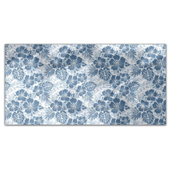 Hawaiian Hibiscus Blue Rectangle Tablecloth