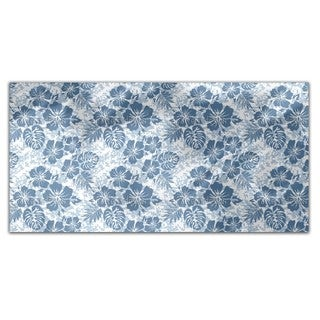 Hawaiian Hibiscus Blue Rectangle Tablecloth