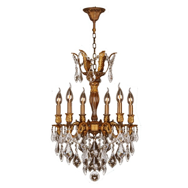 French Imperial Light French Gold Finish And Clear Crystal