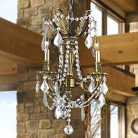 Italian Elegance Collection 3-light Antique Bronze  Finish and Clear Crystal Traditional Chandelier