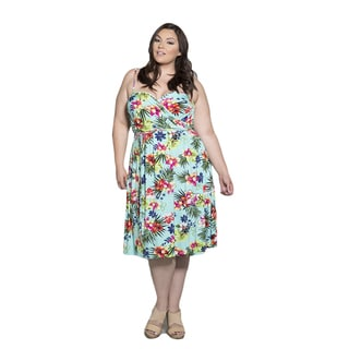 Sealed with a Kiss Women's Plus Size Lani Wrap Dress