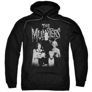 Munsters/Family Portrait Adult Pull-Over Hoodie in Black