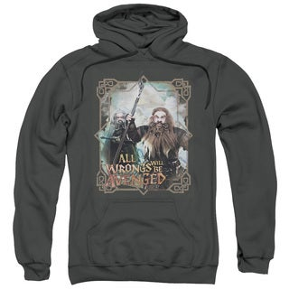 The Hobbit/Wrongs Avenged Adult Pull-Over Hoodie in Charcoal