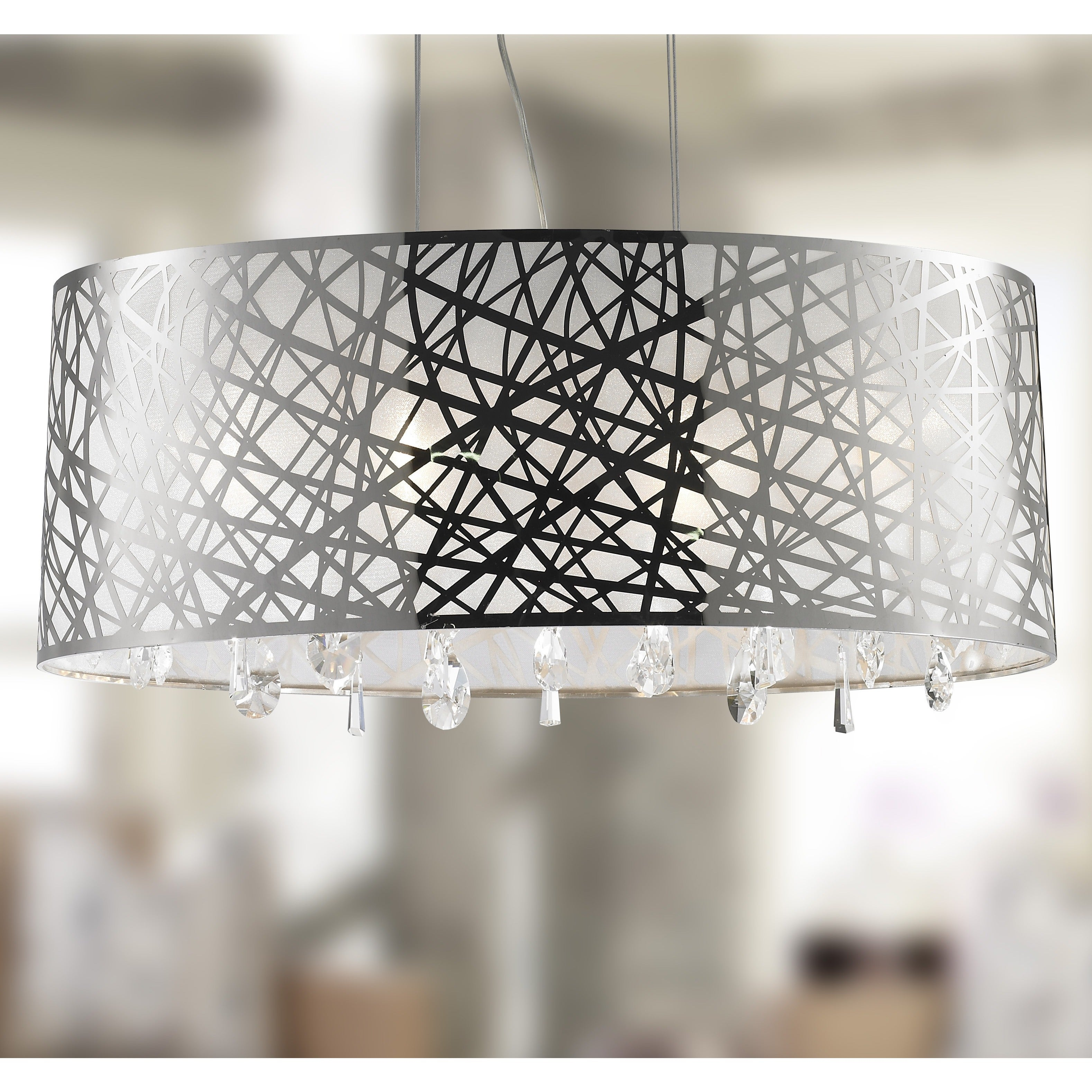 Brilliance Lighting and Chandeliers High Gloss Modern 6 L...