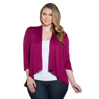 Sealed with a Kiss Women's Plus Size Open Cardigan