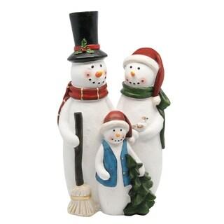 Multicolor Polyresin 12-inch Snowman Family Statue