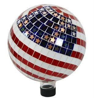 10-inch Mosaic American Flag Gazing Ball
