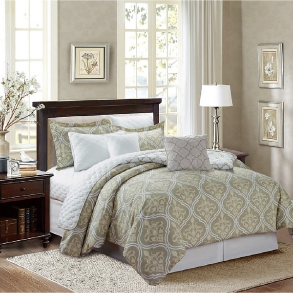 Glen Taupe 8-piece Comforter Set