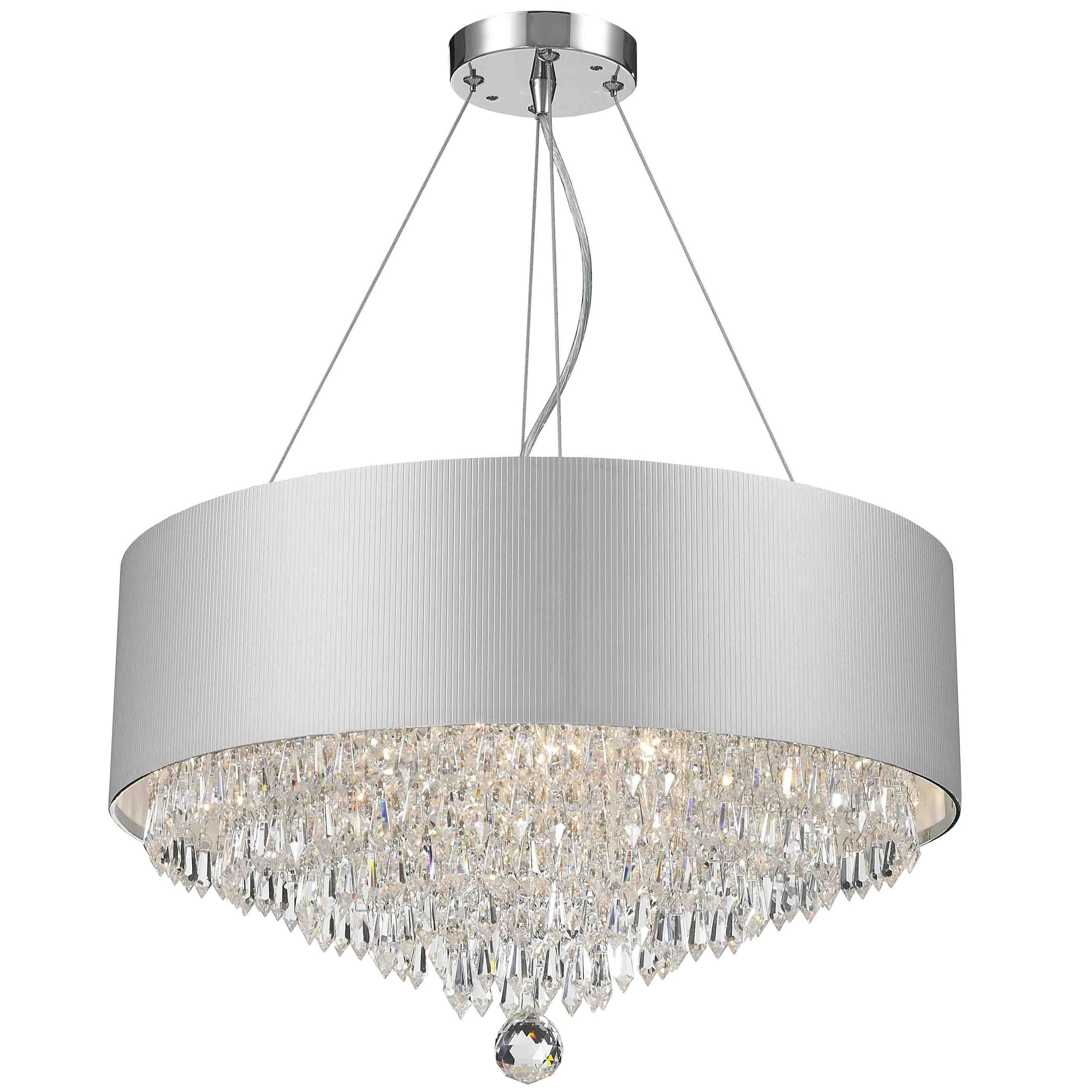 Contemporary Modern 8-light Chrome Finish and Crystal Bal...