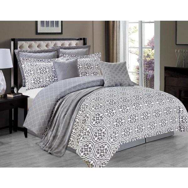 Kendrick Grey 8-piece Comforter Set