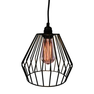 Warehouse of Tiffany Nikola 1-light Black 9-inch Adjustable Cord Edison Pendant With Bulb