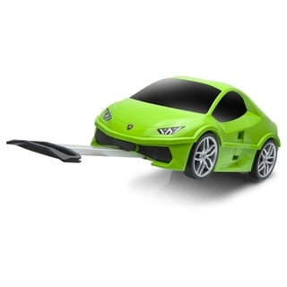 Lamborghini Aventador Kids' 3-in-1 Olympus Green Carry-on Rolling Suitcase