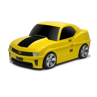 Chevrolet Camaro Kids 3-in-1 Bright Yellow Rolling Carry-on Suitcase