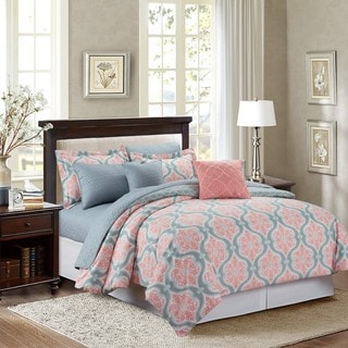 Marina Coral Medallion 8-piece Comforter Set