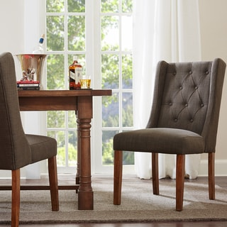 Madison Park Aida Charcoal Dining Chair (Set of 2)