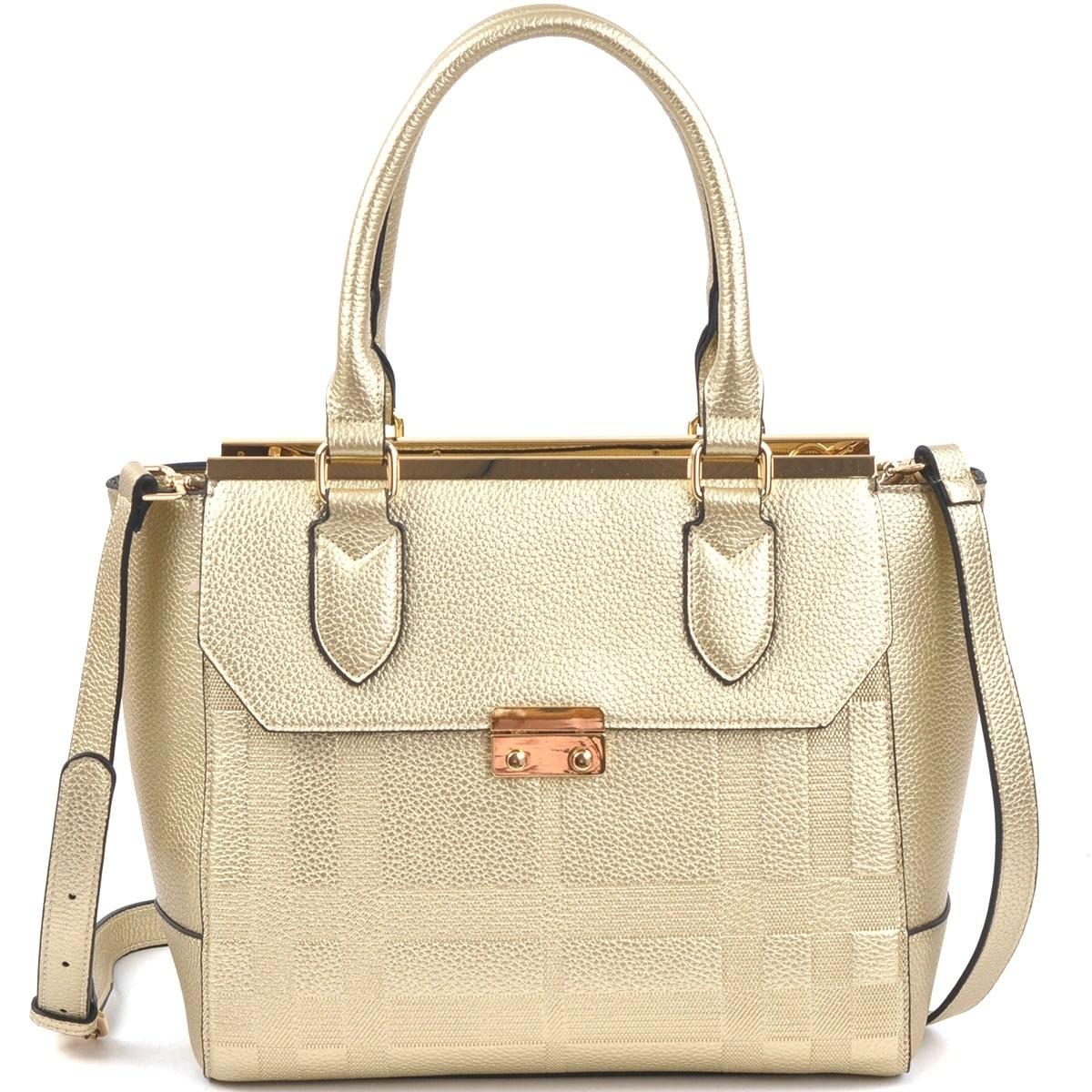 Dasein Fashion Satchel Handbag with Shoulder Strap (Red),...